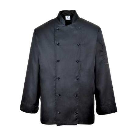 Portwest Chefs Jacket Black