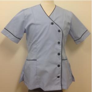 V-Neck Nurse Tunic Button's on Side